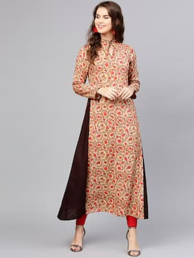 ae219ee59a AASI- HOUSE OF NAYO Cotton Printed Maxi Dress Red