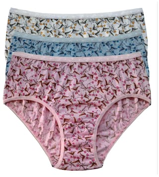 ff4432890b1f Buy Red Rose 3 Hipster Printed Panty - Pink Online at Low Prices in ...