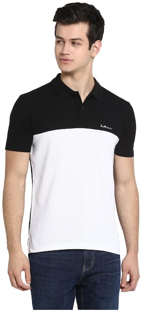 Men Polo Collar Colorblocked T-Shirt Pack Of 1