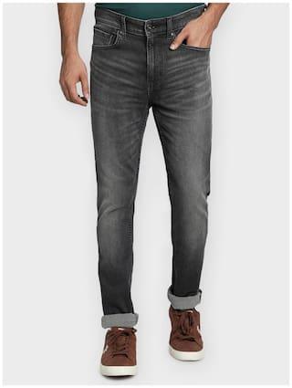Red Tape Men Grey Regular Fit Jeans
