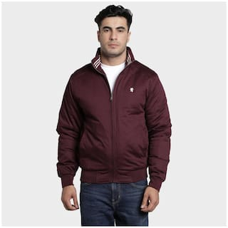 Red Tape Men Maroon Solid Sports jacket