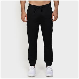 Red Tape Men Black Solid Regular fit Joggers