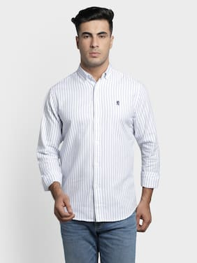 Men Regular Fit Vertical Stripes Casual Shirt