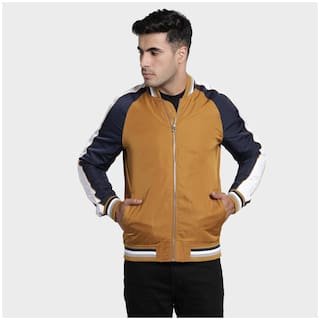 Red Tape Men Yellow Solid Bomber jacket