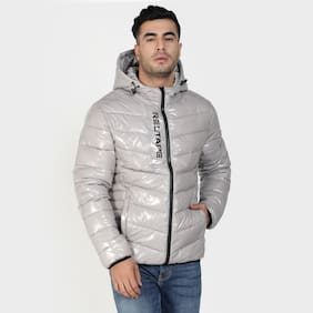 Men Nylon Long Sleeves Bomber Jacket
