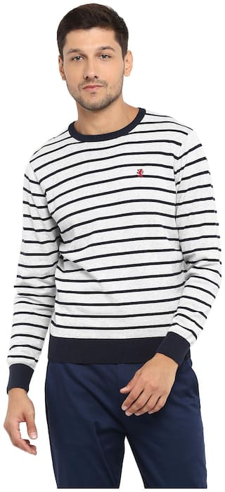 Red Tape Men Cotton Longline Sweater Grey