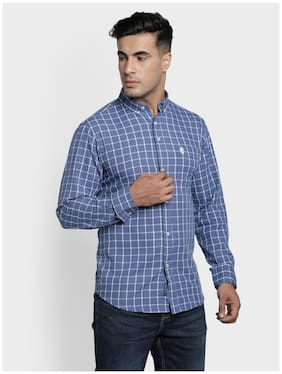 Men Regular Fit Checked Casual Shirt Pack Of 1