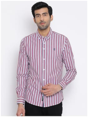 Men Regular Fit Vertical Stripes Casual Shirt Pack Of 1