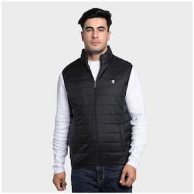 Men Nylon Sleeveless Bomber Jacket