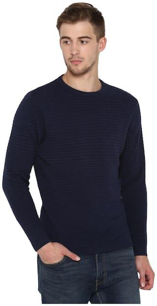 Red Tape Men Cotton Navy Sweater