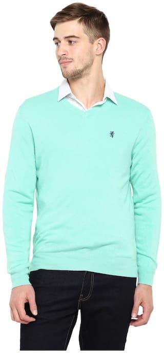 Red Tape Men Acrylic Sea Green Sweater