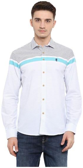 Men Regular Fit Horizontal Stripes Casual Shirt