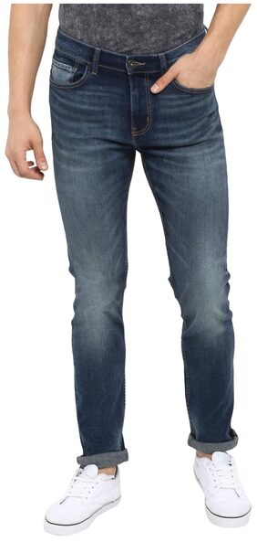 Red Tape Men Blue Grey Skinny Fit Solid Casual Jeans