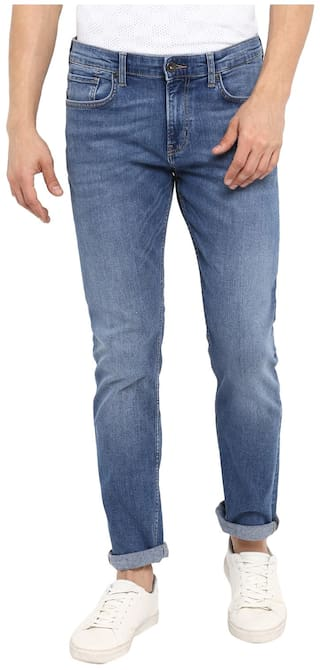 Red Tape Men Light Blue Slim Fit Solid Casual Jeans