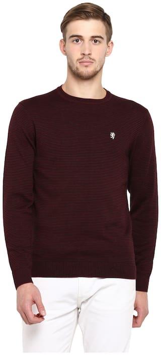 Red Tape Men Acrylic Maroon Sweater