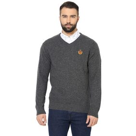Red Tape Men's Anthra Full Sleeve Casual Sweater