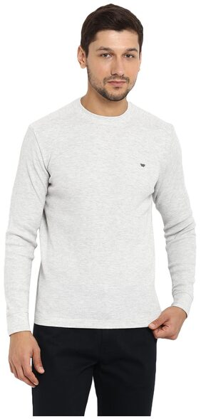 Red Tape Men Grey Full Sleeve Tshirt