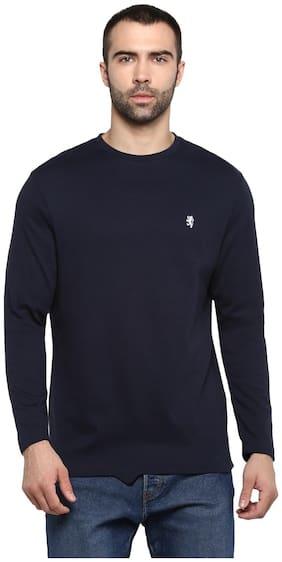 Men Round Neck Solid T-Shirt