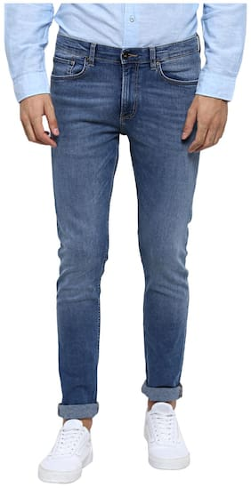 Red Tape Men Light Blue Skinny Fit Solid Casual Jeans