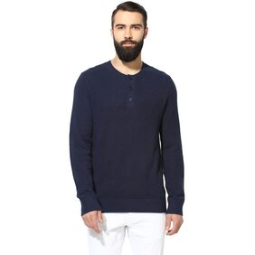 Red Tape Men Cotton Sweater - Blue