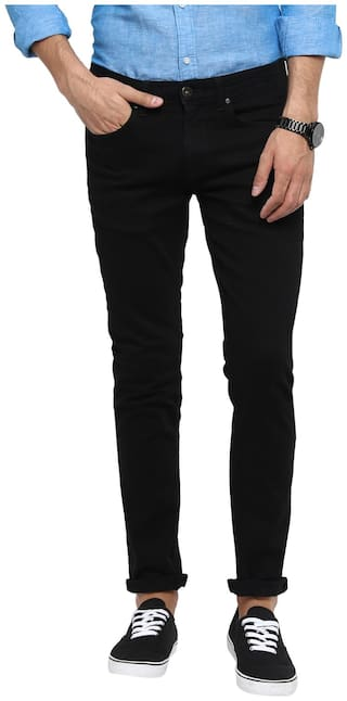 Red Tape Men Black Slim Fit Jeans