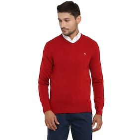 Red Tape Men Red Full Sleeve Casual Sweater