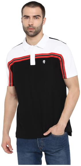 Men Polo Collar Colorblocked T-Shirt ,Pack Of Pack Of 1
