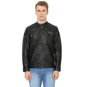 Red Tape Men's Black Full Sleeve Casual Jacket