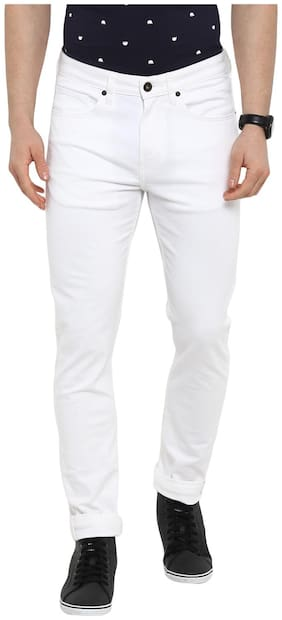 Red Tape Men Mid rise Skinny fit Jeans - White