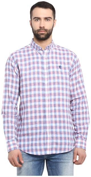Red Tape Men Multi Checked Regular Fit Casual Shirt