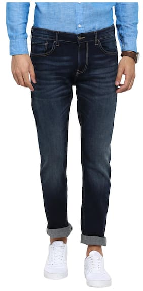 Red Tape Men Dark Blue Slim Fit Solid Casual Jeans