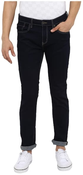 Red Tape Men Rinse Blue Slim Fit Solid Casual Jeans