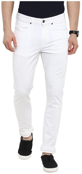 Red Tape Men White Casual Jeans