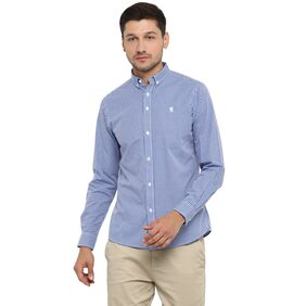 Red Tape Men's Blue Full Sleeve Casual Shirts