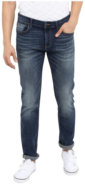 Red Tape Men Blue Grey Slim Fit Solid Casual Jeans