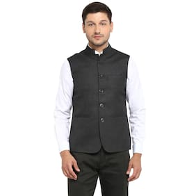 Red Tape Men's Grey Solid Casual Nehru Jacket
