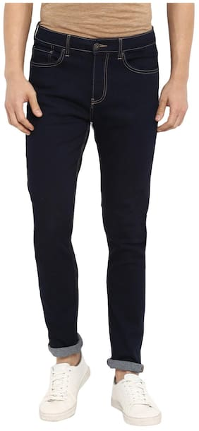 Red Tape Men Rinse Blue Skinny Fit Solid Casual Jeans