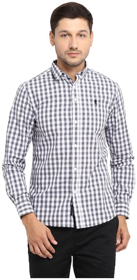 Men Regular Fit Checked Casual Shirt
