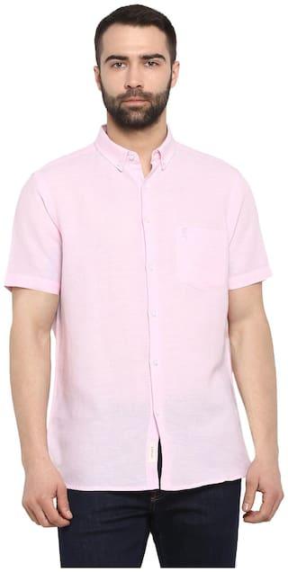 Red Tape Men Pink Solid Regular Fit Casual Shirt