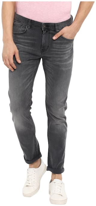 Red Tape Men Grey Slim Fit Jeans
