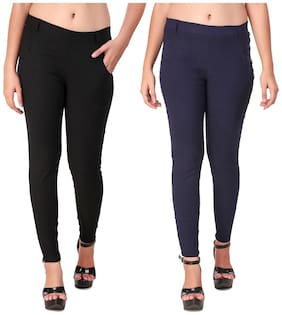 Red Vee Women Black & Navy Skinny fit Jegging