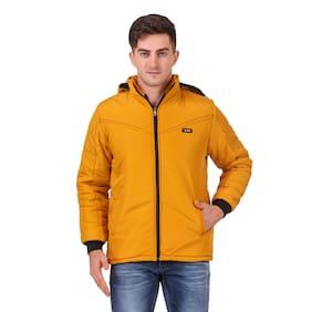 Red Vee Men Yellow Solid Bomber jacket