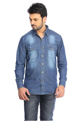 b3c2347b36 Red Chief Blue Faded Full Sleeve Men s Casual Shirt(8110255 ...