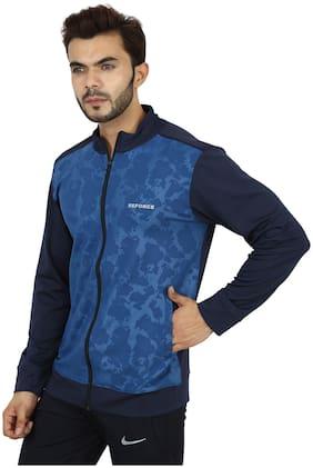 REFORCE Men Polyester Jacket - Blue