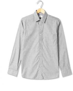 Men Regular Fit Weaved Formal Shirt