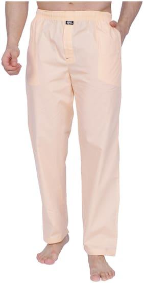 RENZ Peach Cotton Mens Pyjamas - Peach