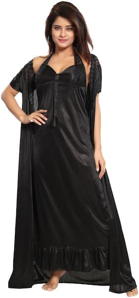 REPOSEY Black Nighty with Robe