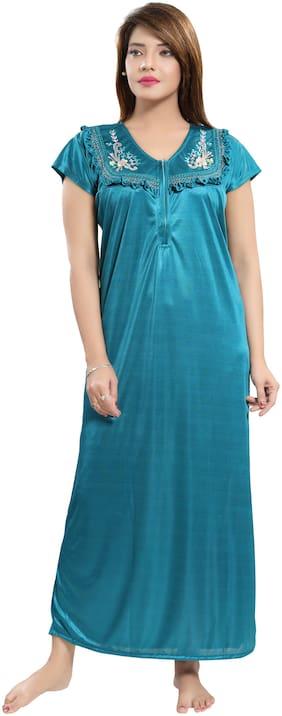 Women Self Design Nightdress