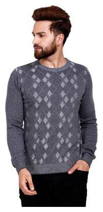 Reston Flat Knit Round Neck Printed Pullover