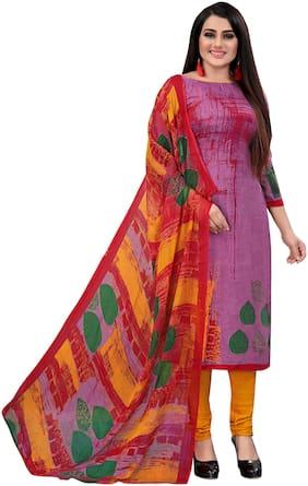 Reya Multi Unstitched Kurta with bottom & dupatta With dupatta Dress Material